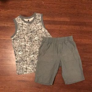 Boys Tea Collection Shorts & Tank Sz 7-8